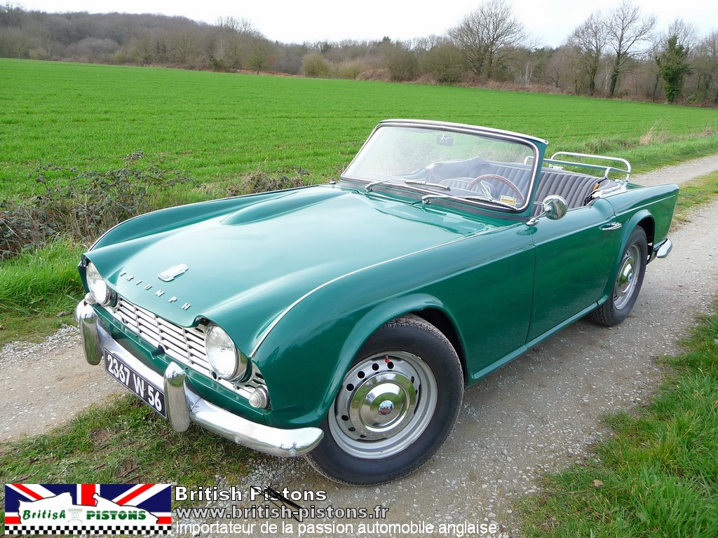 triumph tr4 1963 occasion vert anglais annonce vente triumph british annonces. Black Bedroom Furniture Sets. Home Design Ideas