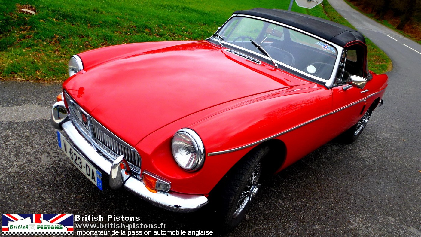 mgb occasion roadster mg b 1965 tartan red annonce vente mgb british annonces. Black Bedroom Furniture Sets. Home Design Ideas