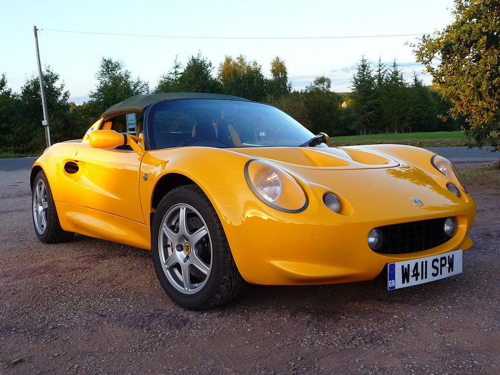 annonce vente occasion lotus elise mk1 111s jaune 145 cv video elise british. Black Bedroom Furniture Sets. Home Design Ideas